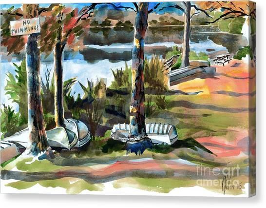 John Boats And Row Boats Canvas Print