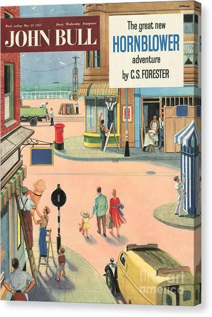 John Bull 1950s Uk Holidays Handymen Canvas Print by The Advertising Archives