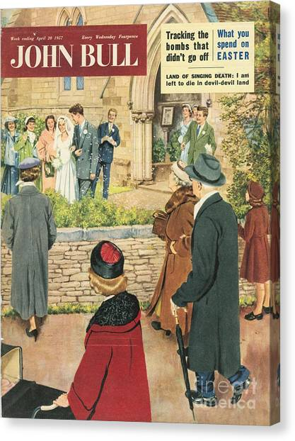 John Bull 1950s Uk Love Marriages Canvas Print by The Advertising Archives