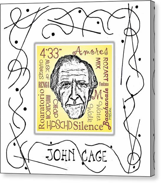 John Cage Canvas Print by Paul Helm