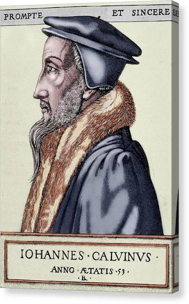 Pastor Canvas Print - John Calvin (1509-1564 by Prisma Archivo