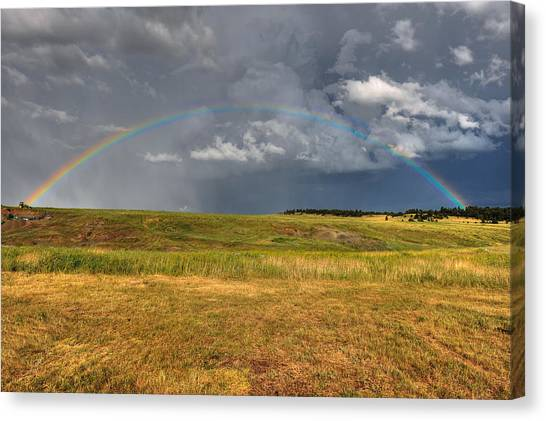 John Deer At The End Of The Rainbow Canvas Print
