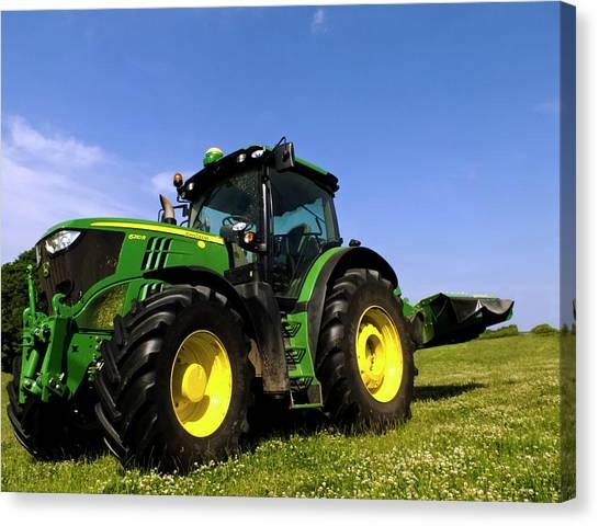 John Deere Canvas Print - John Deere 6210r Tractor by Ian Gowland