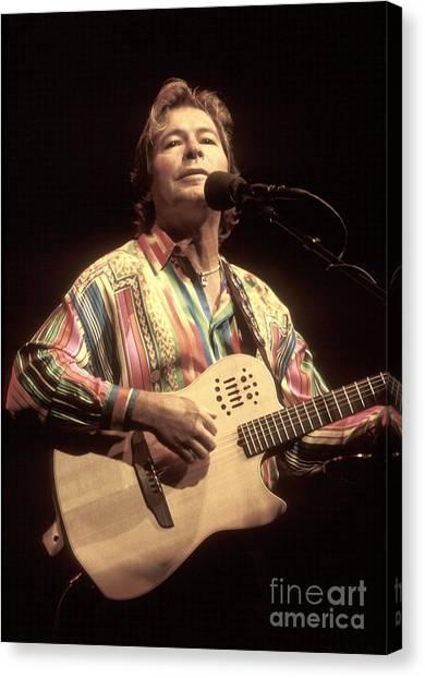 Folk Singer Canvas Print - John Denver by Concert Photos