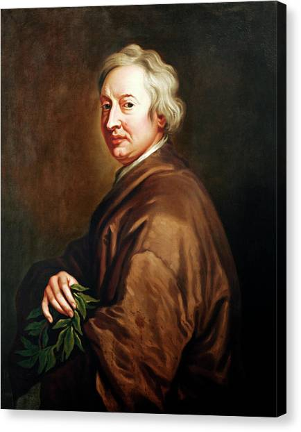 John Dryden Canvas Print by Bodleian Museum/oxford University Images