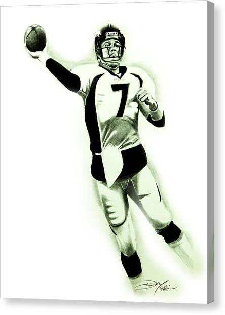 John Elway Canvas Print by Don Medina