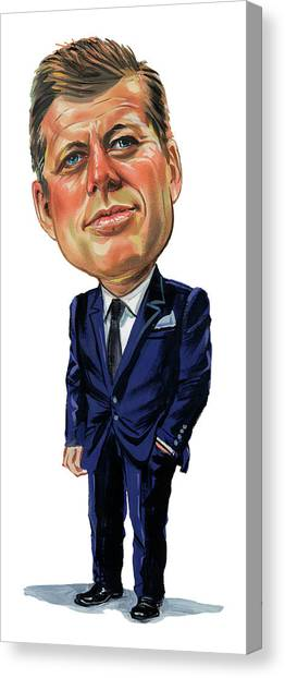 John F. Kennedy Canvas Print - John F. Kennedy by Art