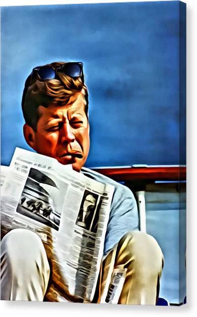 John F Kennedy Canvas Print