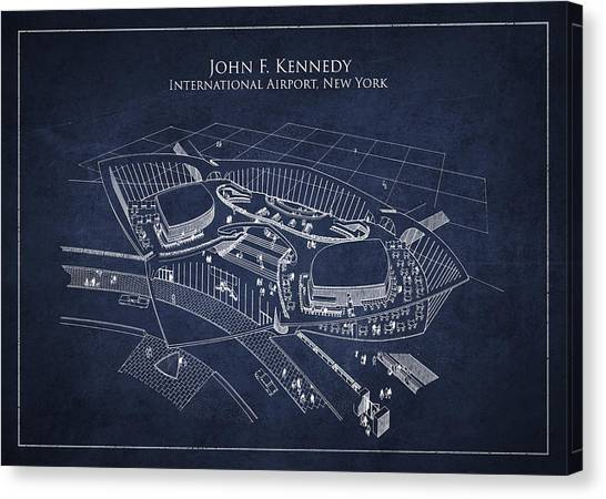 John F. Kennedy Canvas Print - John F Kennedy International Airport by Aged Pixel