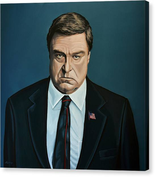 Big Brother Canvas Print - John Goodman by Paul Meijering