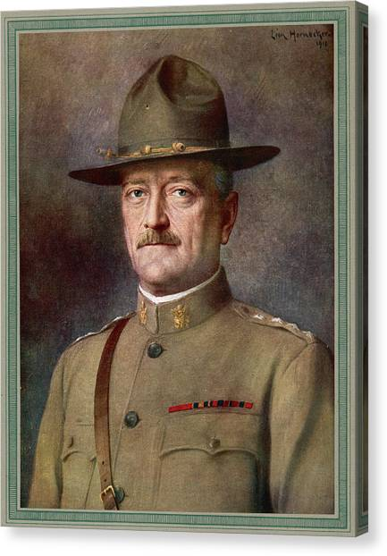 John Joseph Pershing    Nicknamed Black Canvas Print by Mary Evans Picture Library