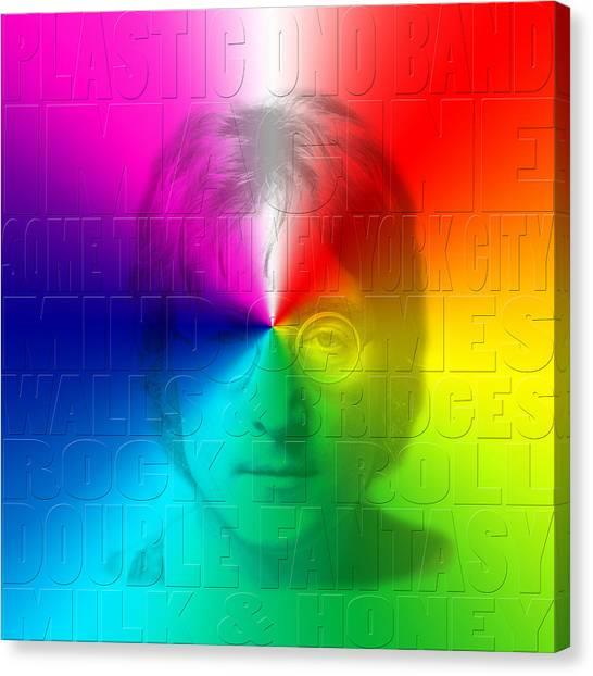 Yoko Ono Canvas Print - John Lennon 1 by Andrew Fare