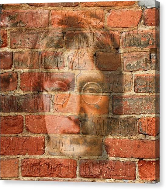 Yoko Ono Canvas Print - John Lennon 2 by Andrew Fare