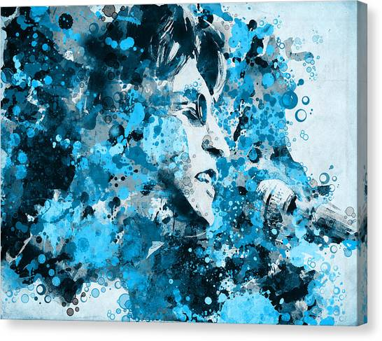 Paul Mccartney Canvas Print - John Lennon 5 by Bekim Art