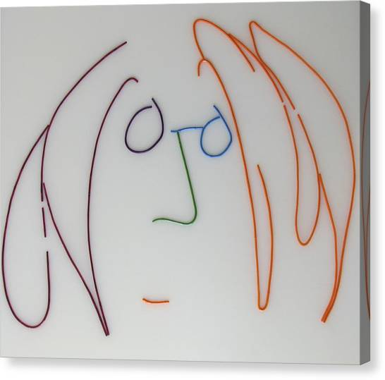 Yoko Ono Canvas Print - John Lennon Imagine By Peter Virgancz by Peter Virgancz