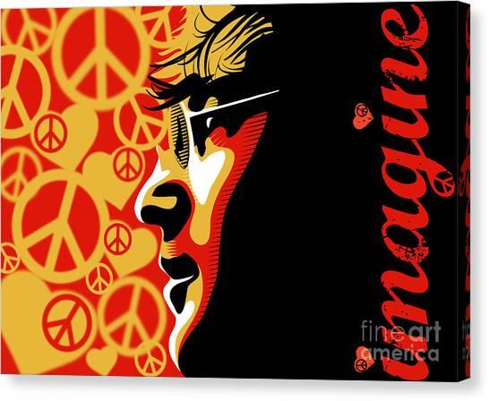 Musician Canvas Print - John Lennon Imagine by Sassan Filsoof