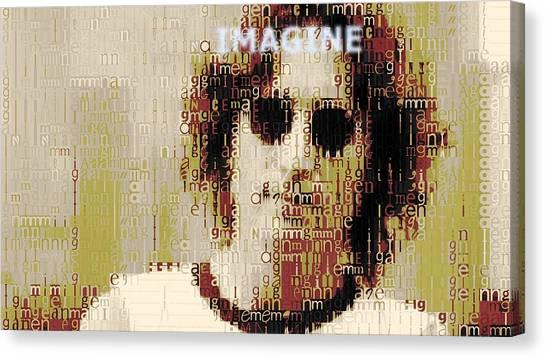 Yoko Ono Canvas Print - John Lennon Imagine Typography by Dan Sproul