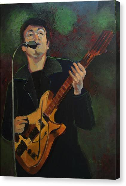 John Lennon In Performance Canvas Print