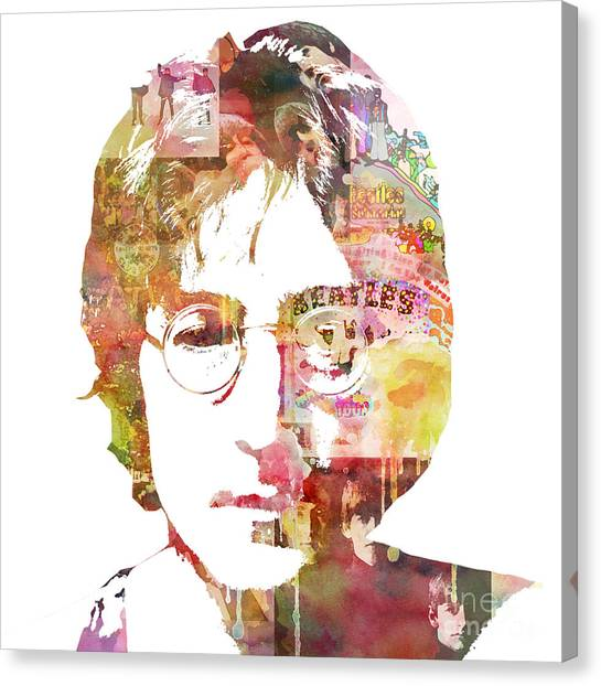 United Kingdom Canvas Print - John Lennon by Mike Maher