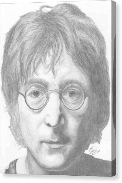 John Lennon Canvas Print by Olivia Schiermeyer