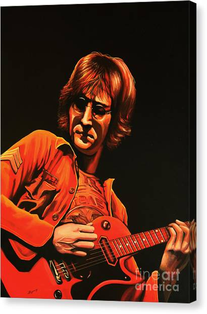 The Beatles Canvas Print - John Lennon Painting by Paul Meijering