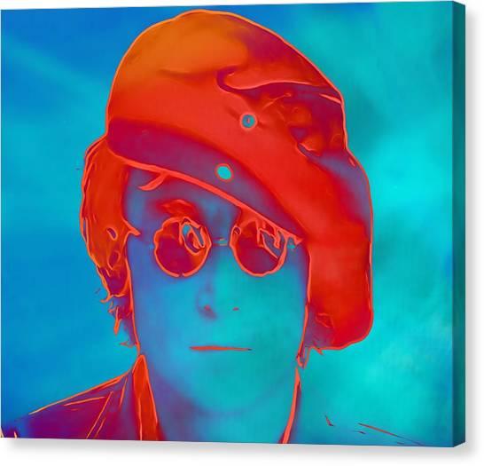 Yoko Ono Canvas Print - John Lennon Pop Art Portrait by Dan Sproul