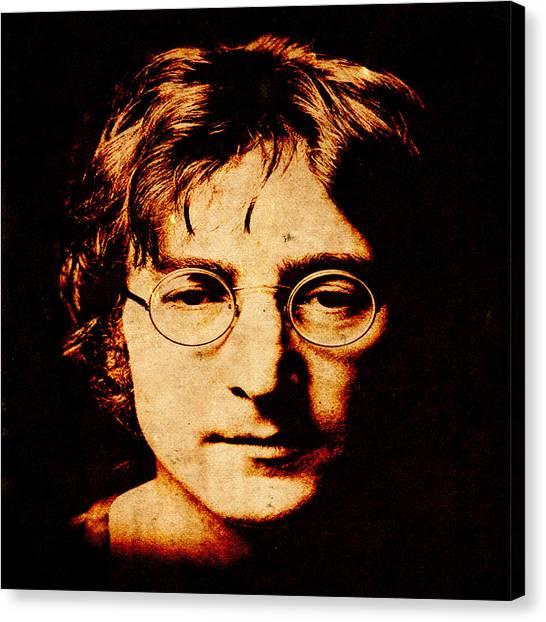 Yoko Ono Canvas Print - John Lennon3 by Andrew Fare