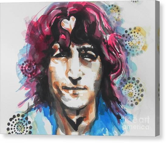 John Lennon..up Close Canvas Print