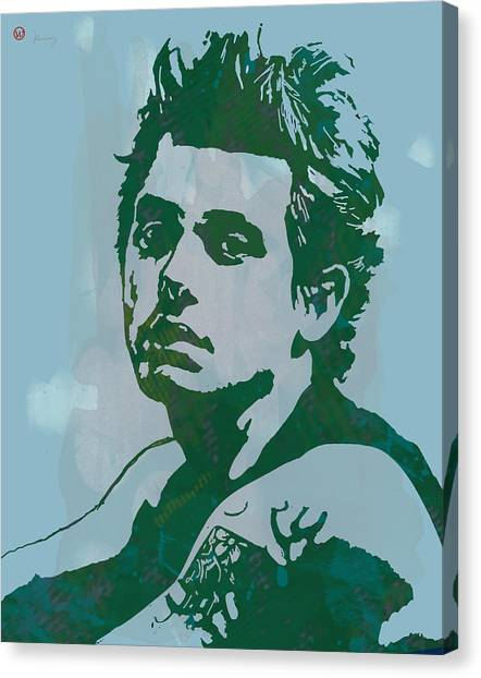Influence Canvas Print - John Mayer - Pop Stylised Art Sketch Poster by Kim Wang