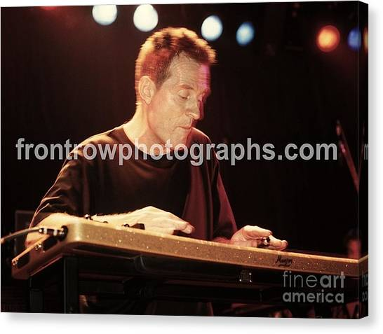 Synthesizers Canvas Print - John Paul Jones by Concert Photos