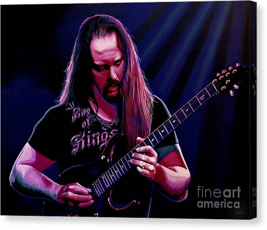 Electric Guitars Canvas Print - John Petrucci Painting by Paul Meijering