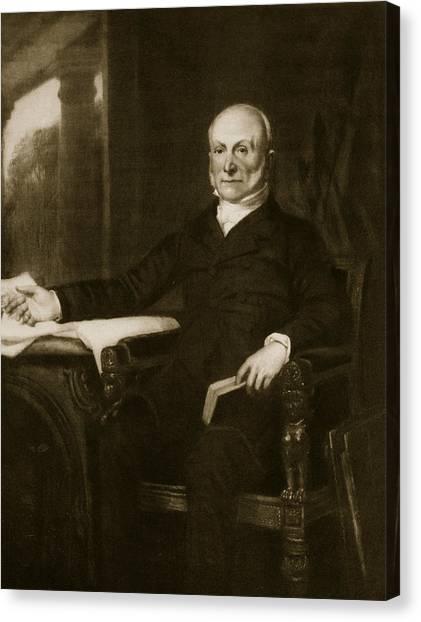 Republican Politicians Canvas Print - John Quincy Adams by George Healy