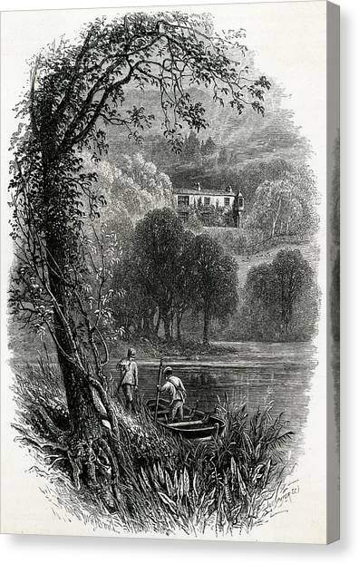 John Ruskin Home Of The English Art Canvas Print by Mary Evans Picture Library