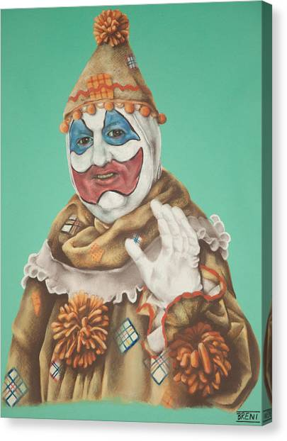 John Wayne Gacy As Pogo The Clown Canvas Print