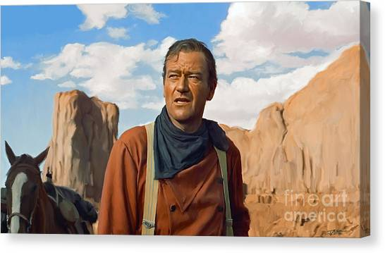 Pilgrims Canvas Print - John Wayne by Paul Tagliamonte