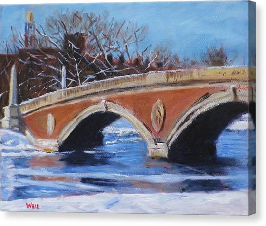 Boston College Canvas Print - John Weeks Footbridge Boston by Chris Weir