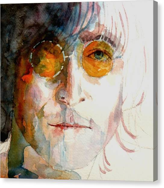 The Beatles Canvas Print - John Winston Lennon by Paul Lovering