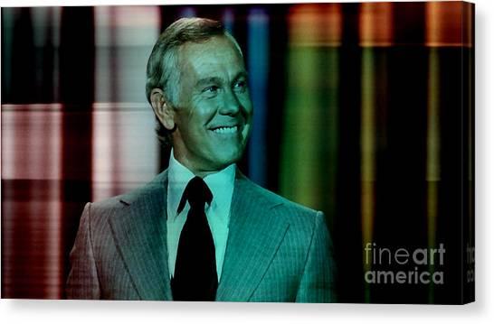 Johnny Carson Canvas Print - Johnny Carson by Marvin Blaine