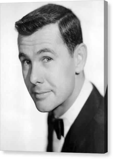 Johnny Carson Canvas Print - Johnny Carson by Silver Screen