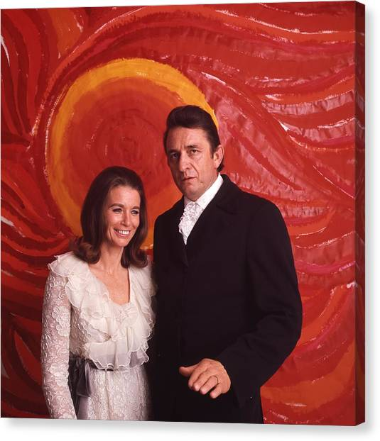 Johnny Cash Canvas Print - Johnny Cash And June Carter Cash by Retro Images Archive
