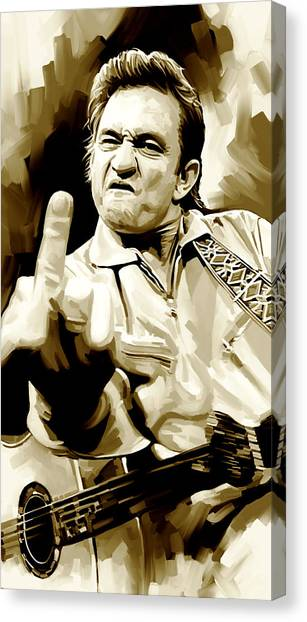 Johnny Cash Artwork 2 Canvas Print