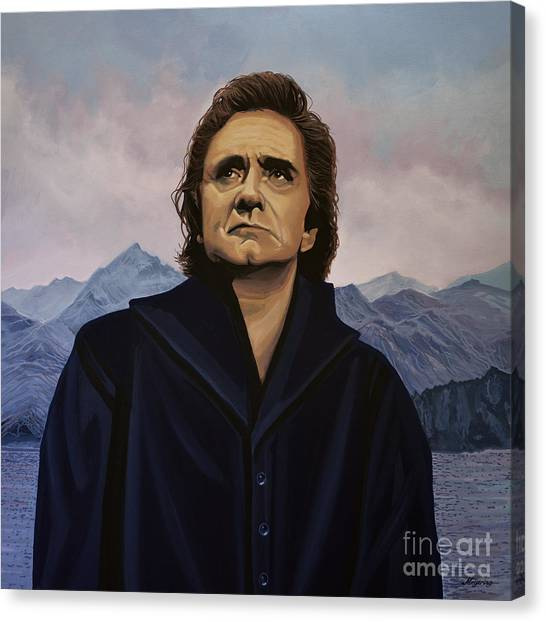 Nashville Canvas Print - Johnny Cash Painting by Paul Meijering