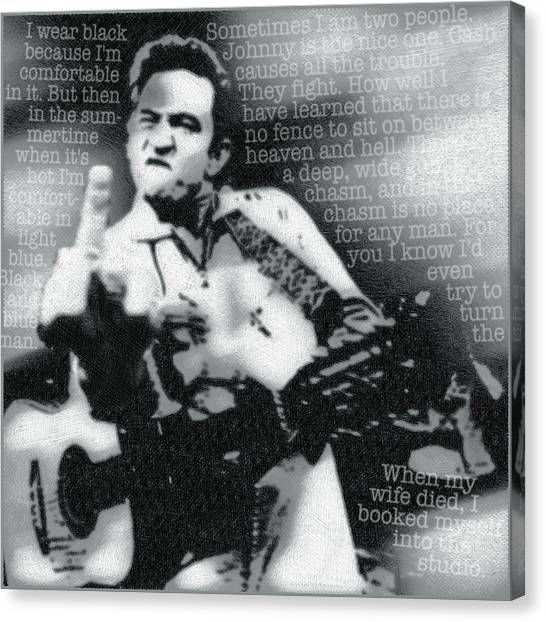 Johnny Cash Rebel Canvas Print