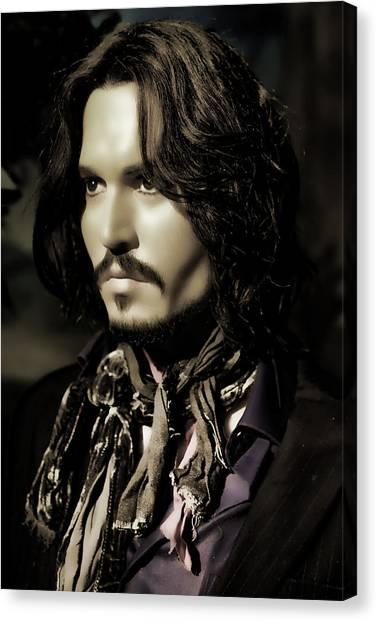 Johnny Depp Canvas Print by Lee Dos Santos
