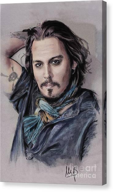 Johnny Depp Canvas Print - Johnny Depp by Melanie D