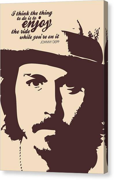 Johnny Depp Canvas Print - Johnny Depp Minimalist Poster by Lab No 4 - The Quotography Department
