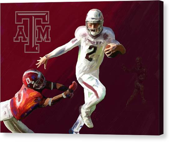 Texas A Canvas Print - Johnny Football by G Cannon