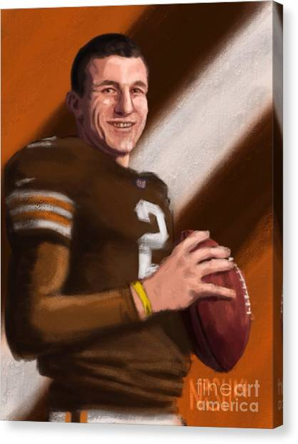 Johnny Manziel Canvas Print - Johnny Football by Jeremy Nash