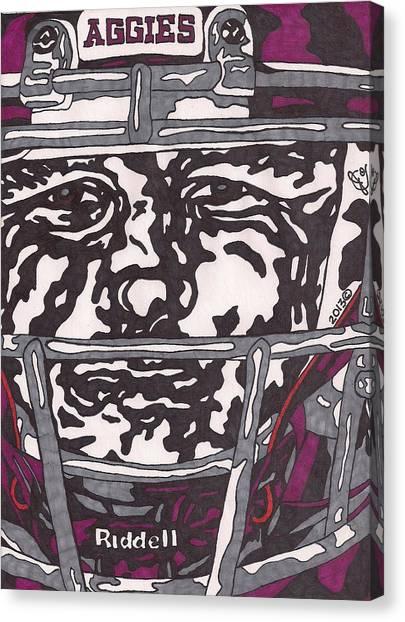 Johnny Manziel Canvas Print - Johnny Manziel 16 by Jeremiah Colley