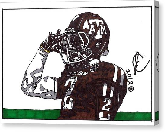 Johnny Manziel The Salute Canvas Print